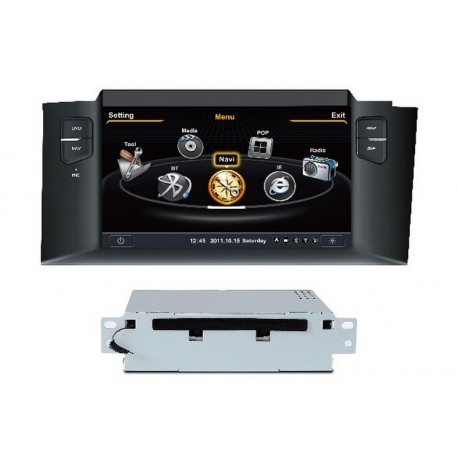 autoradio navigatore s100 gps per nuova citroen c4 ebay. Black Bedroom Furniture Sets. Home Design Ideas