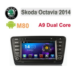 Navigatore Skoda Octavia 2014 Multimediale M80 Android 4.4 C8279