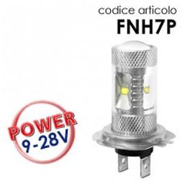Coppia Lampade LED H7 30W con lenticolare