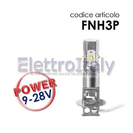 Coppia Lampade LED H3 25W con lenticolare