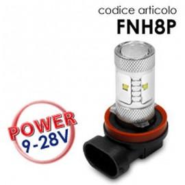 Coppia Lampade led H8 9-28V 30W con lenticolare