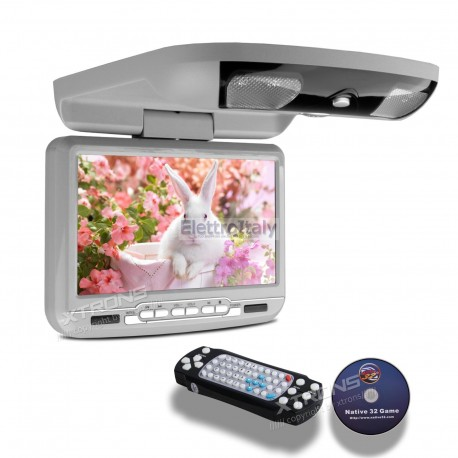 Monitor da Tetto 9 pollici DVD