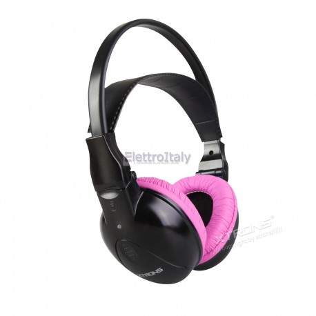 Cuffia Wireless Stereo 2 canali rosa