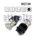 Coppia Lampade LED W21W T20 1 FILAMENTO CON 18 LED 6000K