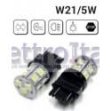 Coppia Lampade LED W21W/5W T20 2 FILAMENTI CON 18 LED 6000K