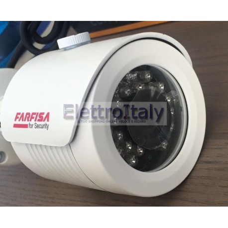 Farfisa Telecamera AHD con infrarossi professionale 2,4Mp