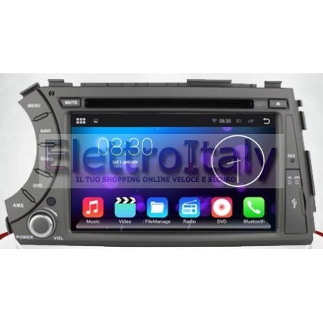 Autoradio Navigatore Ssangyong Kyron Multimediale Android 5.1 M80