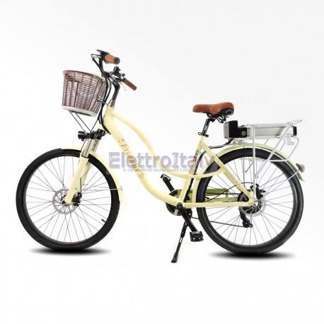 Bici Elettrica Da Passeggio 26 Bicicletta Pedalata Assistita Olandese