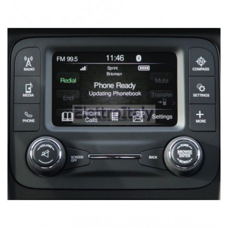 "JEEP UCONNECT 5"" INTERFACCIA TELECAMERA RETROMARCIA ED ANTERIORE"