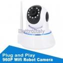 Telecamera 960P WiFi Robot motorizzata controllo remoto