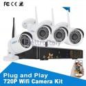Kit videosorveglianza Wifi 4 cam 720p con NVR remoto