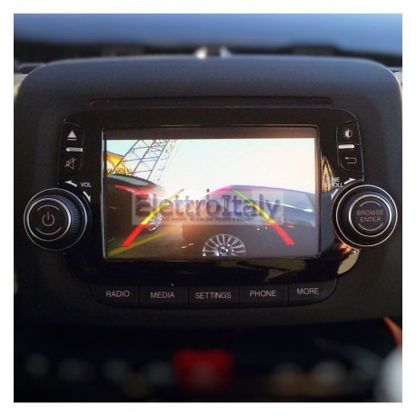"FIAT UCONNECT 5"" INTERFACCIA TELECAMERA RETROMARCIA ED ANTERIORE"