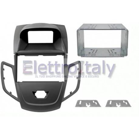 Kit Fissaggio / Mascherina doppio din Alfa 159 modello con navigatore, 2 din