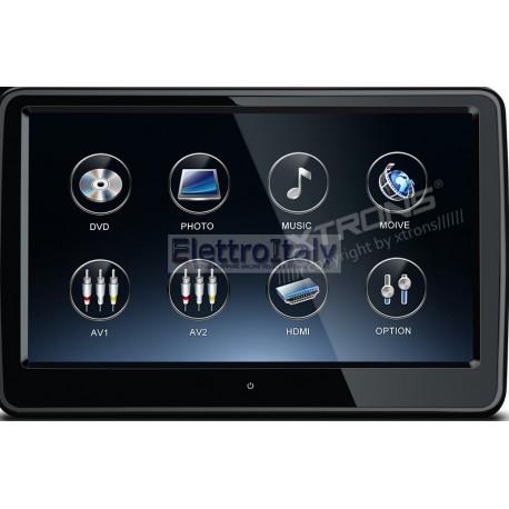 Monitor 10.6 pollici Android touschreen FULLHD 1080P HDMI da poggiatesta con DVD Xtrons