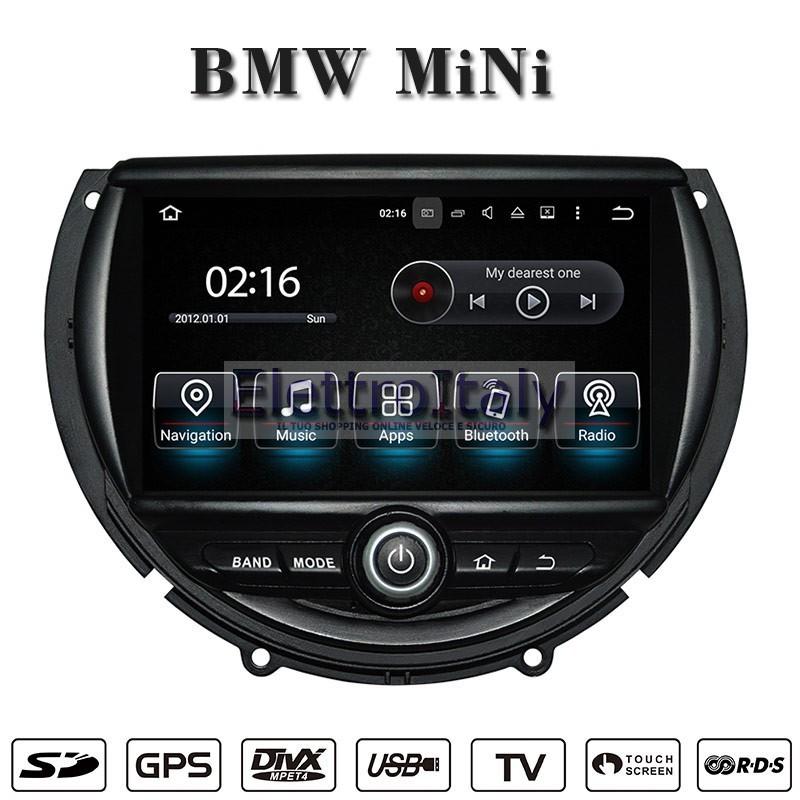 autoradio navigatore bmw mini cooper multimediale android 5 1 idrive. Black Bedroom Furniture Sets. Home Design Ideas