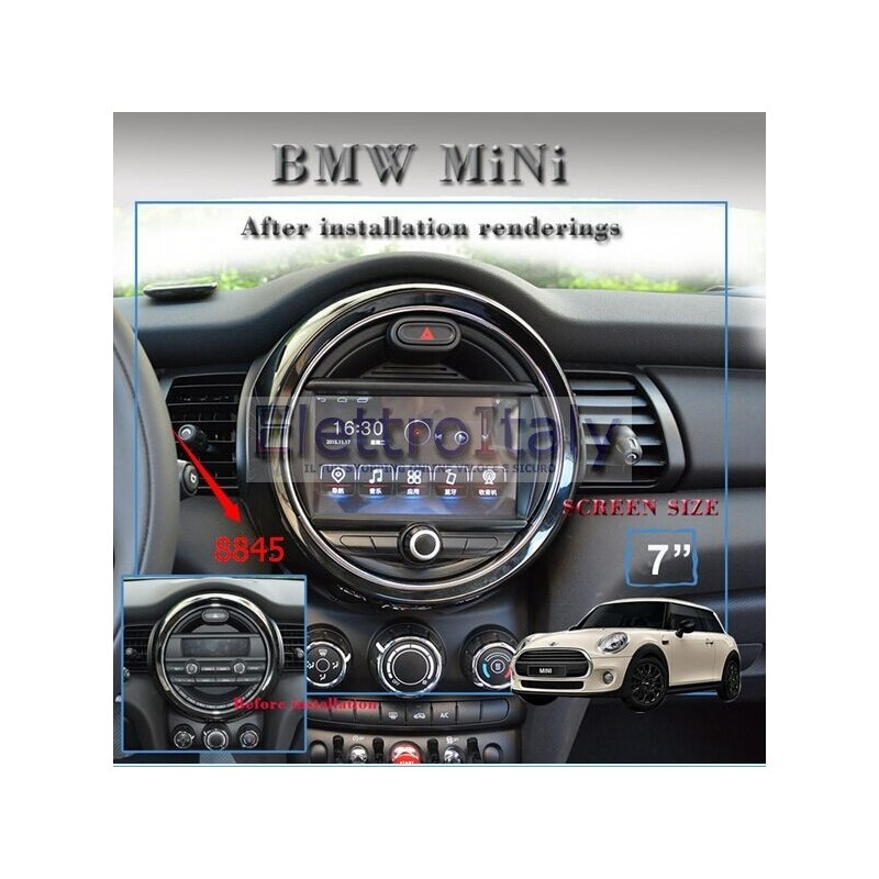 autoradio navigatore bmw mini cooper multimediale android 5 1 idrive. Black Bedroom Furniture Sets. Home Design Ideas