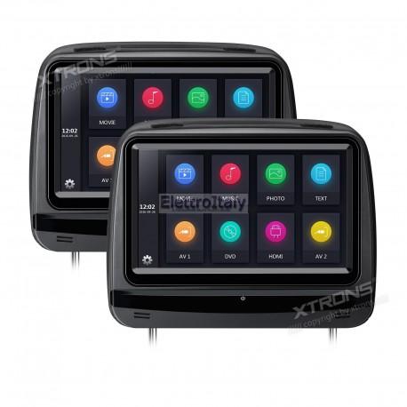 Coppia Monitor 9 pollici DVD poggiatesta HDMI XTRONS