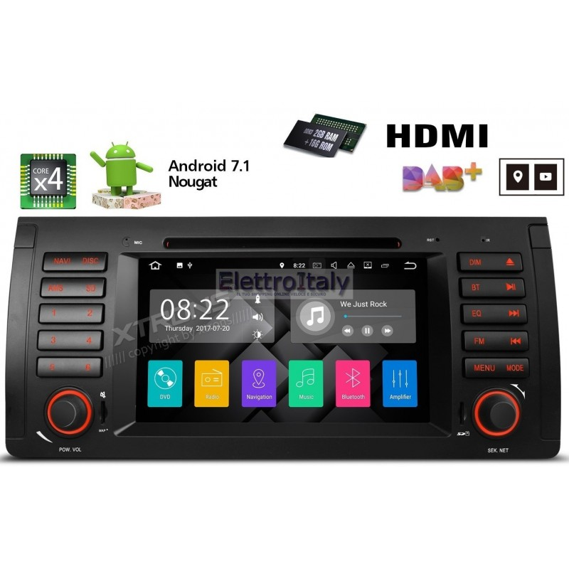 autoradio navigatore bmw serie x5 e53 android 71 quadcore hdmi multimediale xtrons. Black Bedroom Furniture Sets. Home Design Ideas