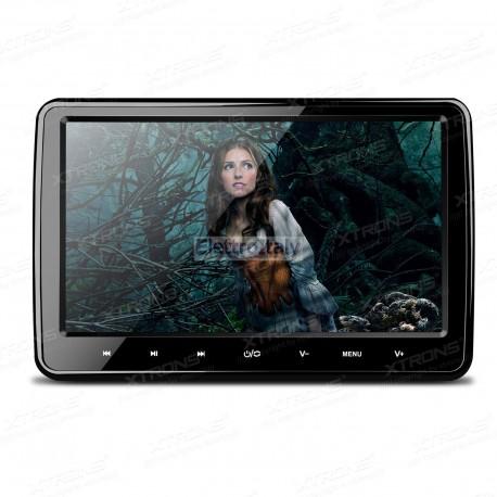 Monitor 10 pollici HD da poggiatesta con DVD HDMI e rimuovibile Xtrons