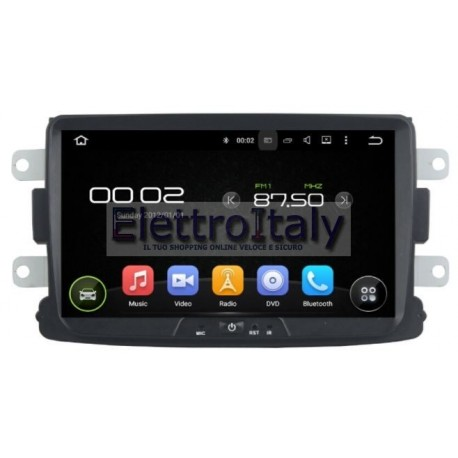 Autoradio Navigatore Dacia Duster 8 pollici Android 7 HDMI