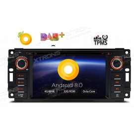 Autoradio Navigatore JEEP- DODGE CHRYSLER Android 8 Octacore Multimediale Xtrons