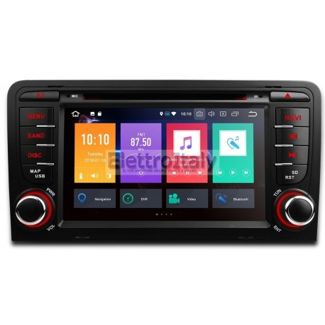 autoradio navigatore audi a3 multimediale android 8 octacore. Black Bedroom Furniture Sets. Home Design Ideas