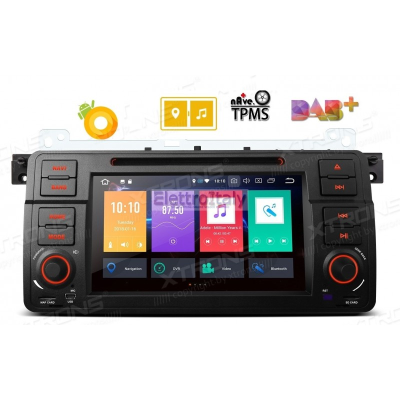 autoradio navigatore bmw serie e46 android 8 octacore. Black Bedroom Furniture Sets. Home Design Ideas