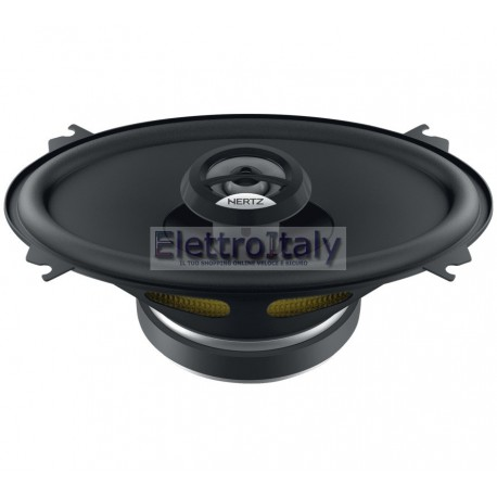 "COPPIA COASSIALI FULL-RANGE 2 VIE HERTZ DCX460.3 80 WATT 4OHM 4""x6"" 10x16cm"