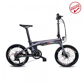 "Bici elettrica carbonio Bicycle Carbon Fiber 20"" Carbon E-bike 250W 9Ah Torque"