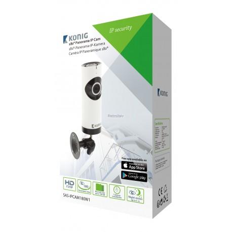 HD IP Camera Fissa 1280x720 Panorama Bianco/Nero