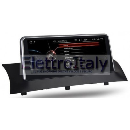 Navigatore BMW X3 X4 CiC 10 pollici Android GPS Multimediale
