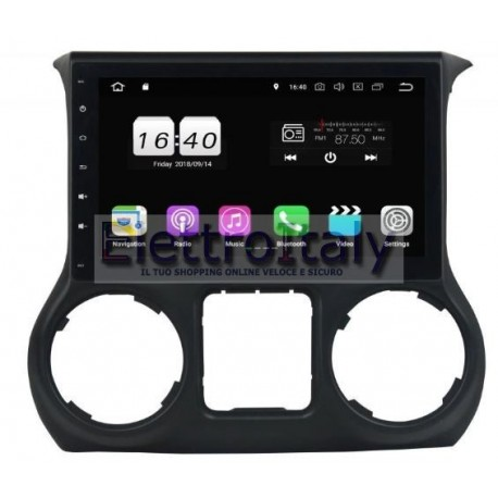 Navigatore Jeep Wrangler 10 pollici Android 7