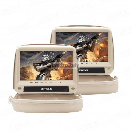 Coppia Monitor 9 pollici touchscreen DVD poggiatesta