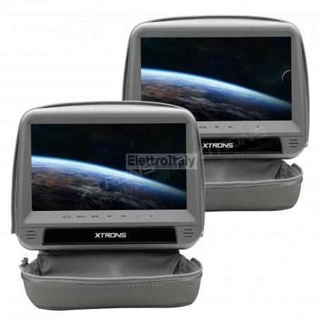 Coppia Monitor 9 pollici touchscreen DVD poggiatesta