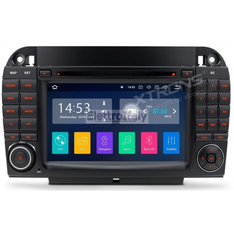 Autoradio Navigatore Mercedes Classe S W220 Android 8.1 Quadcore Multimediale Xtrons