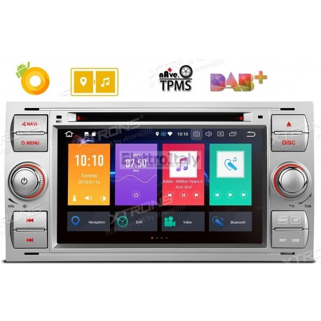 Autoradio Navigatore Ford Kuga Focus S-Max C-Max Fiesta Transit Galaxy Multimediale Android 8 Octacore Xtrons