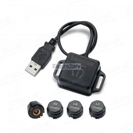 Monitoraggio pressione gomme kit TPMS per xtrons