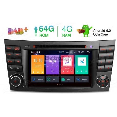 Navigatore Mercedes Classe E W211 W43 CLS W219 Android 9 Octacore