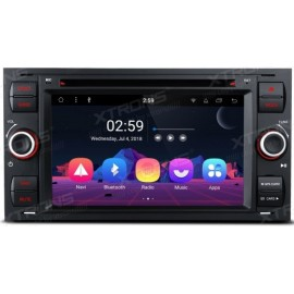 Autoradio Navigatore Ford Focus C-MAX S-max Galaxy Fusion Transit Fiesta Android 8.1 Octacore Multimediale