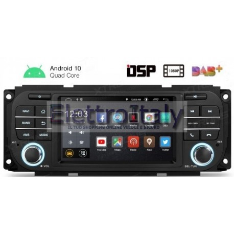 Autoradio Navigatore JEEP- DODGE CHRYSLER Android 10 Multimediale Xtrons