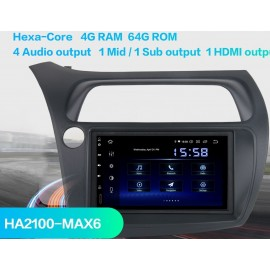 Cartablet Navigatore Honda Civic Android Multimediale