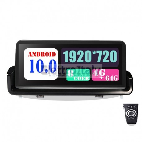 Navigatore BMW Serie 3 E90 E91 E92 E93 Android 10 pollici