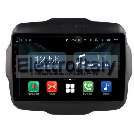 Cartablet Navigatore Jeep Renegade 9 pollici Android 9 Octacore PX5