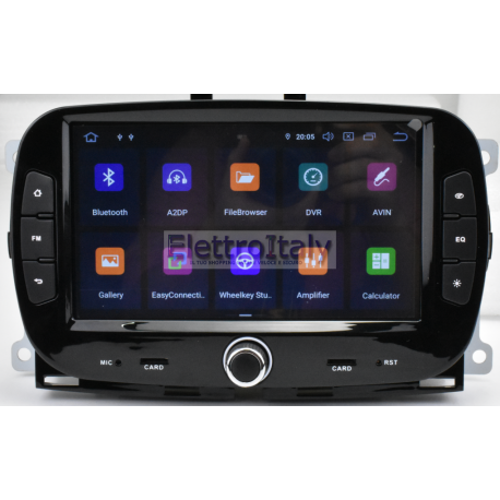 Cartablet Navigatore Fiat 500 Multimediale Android