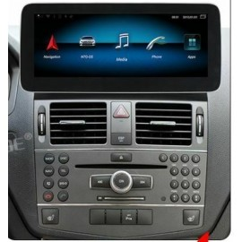 Navigatore 10 pollici Mercedes Classe C 2007 NTG 4x Android