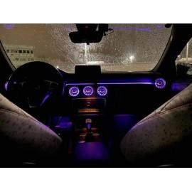 Kit Illuminazione Ambient interno Mercedes Classe A B GLA CLA RGB con APP