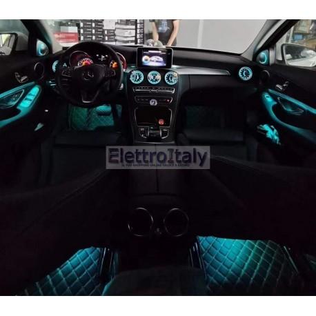 Kit Illuminazione Ambient interno Mercedes Classe C GLC RGB con APP
