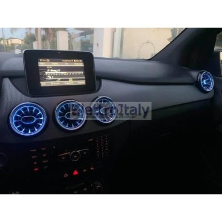 Bocchette aria ambient anteriori mercedes Classe A B GLA CLA con app