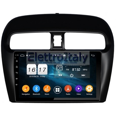 Navigatore Mitsubishi Mirage GT Space Star 9 Pollici Octacore 4Gb Android 10 WiFi