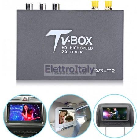 Ricevitore DVB-T2 HD, 1080p, Decoder TV digitale terrestre